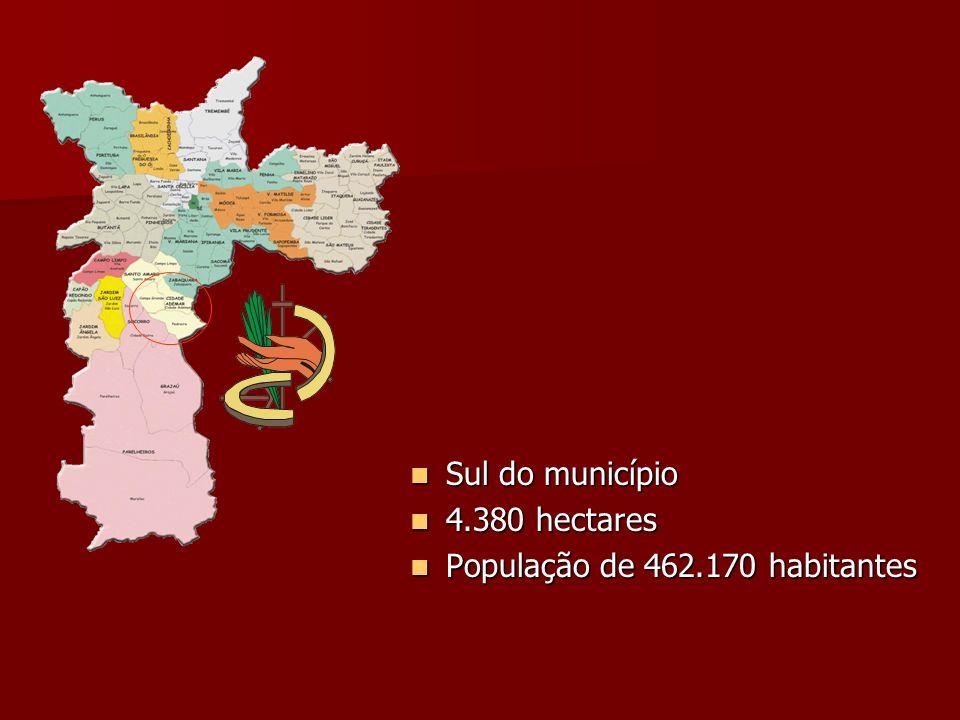 Sul do município 4.380 hectares População de 462.170 habitantes