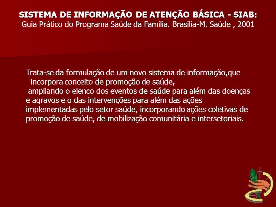 SISTEMA DE INFORMAÇÃO DE ATENÇÃO BÁSICA - SIAB: