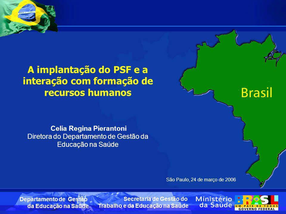 A implantação do PSF e a interação com formação de recursos humanos