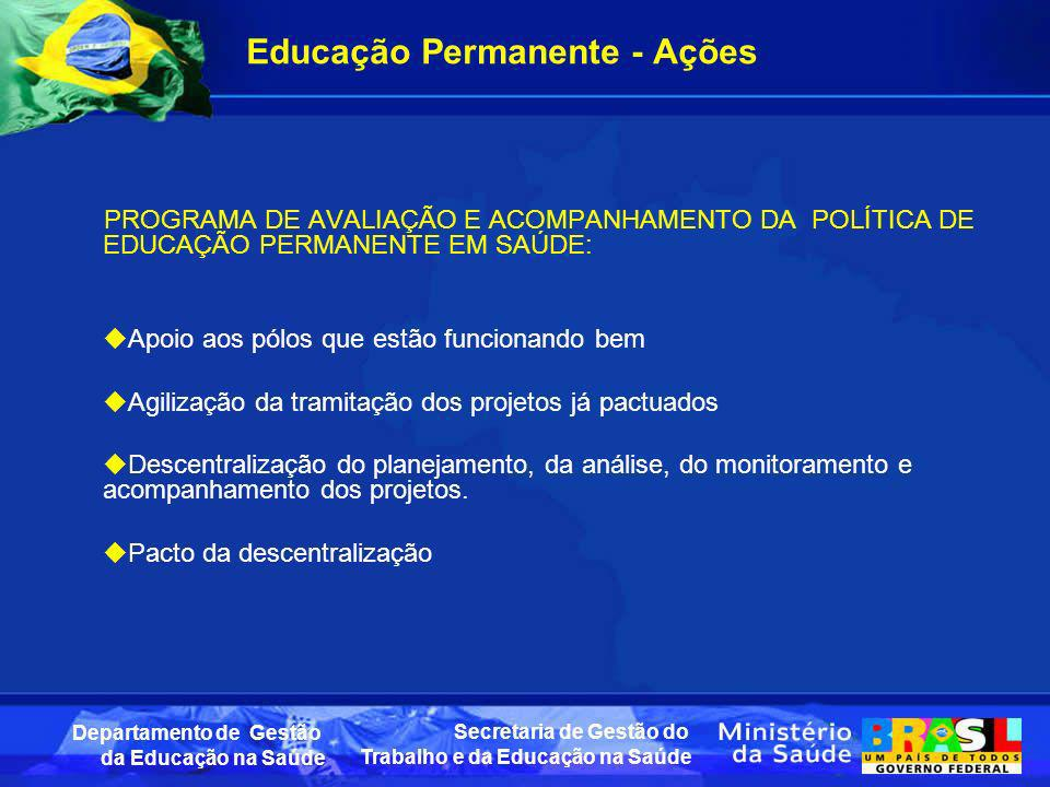 Educação Permanente - Ações
