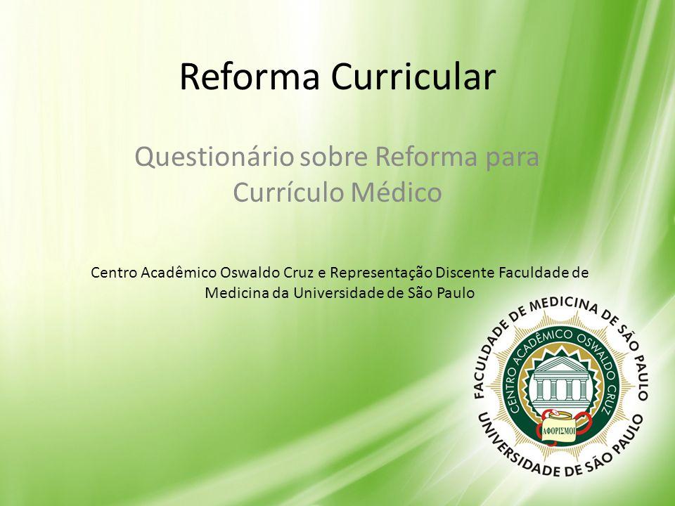 Questionário sobre Reforma para Currículo Médico