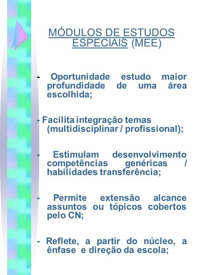 MÓDULOS DE ESTUDOS ESPECIAIS (MEE)