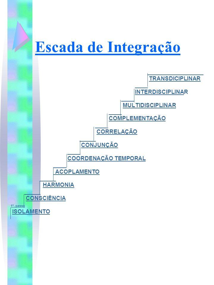 Escada de Integração __________________ TRANSDICIPLINAR ____