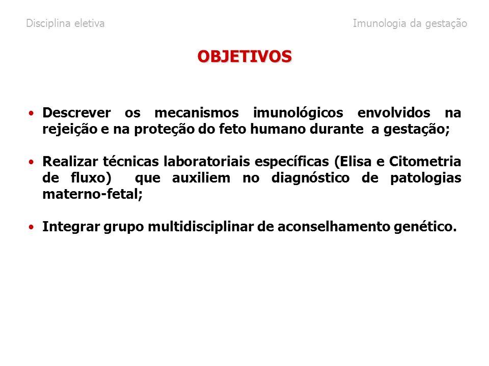 Disciplina eletiva Imunologia da gestação