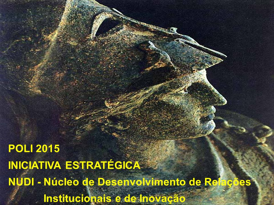 POLI 2015 INICIATIVA ESTRATÉGICA. NUDI - Núcleo de Desenvolvimento de Relações.