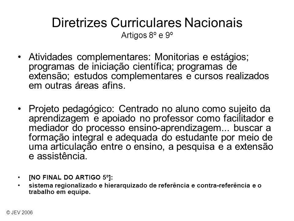 Diretrizes Curriculares Nacionais Artigos 8º e 9º