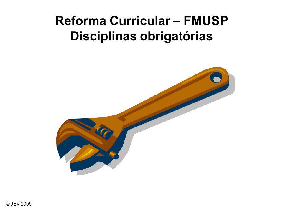 Reforma Curricular – FMUSP Disciplinas obrigatórias