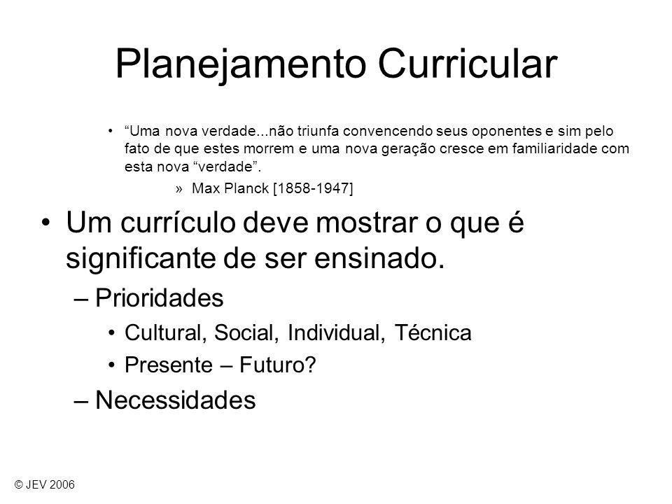 Planejamento Curricular