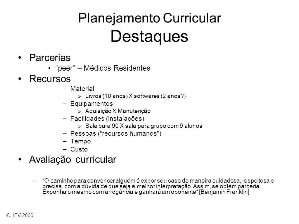 Planejamento Curricular Destaques