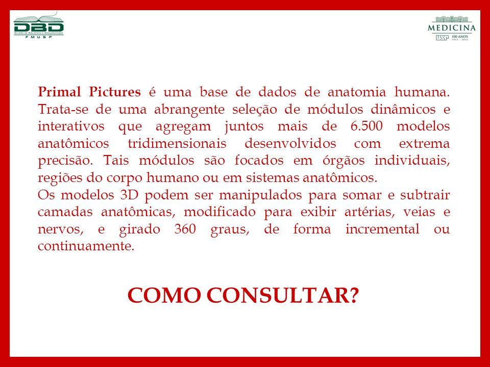 Primal Pictures é uma base de dados de anatomia humana
