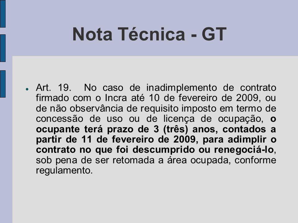 Nota Técnica - GT