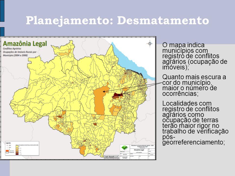 Planejamento: Desmatamento