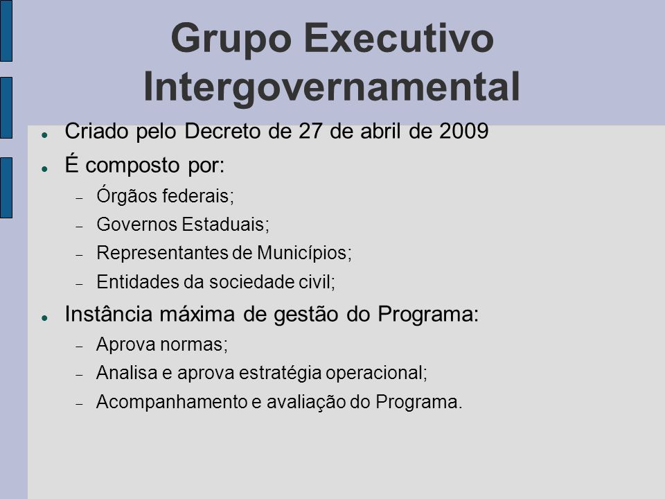 Grupo Executivo Intergovernamental