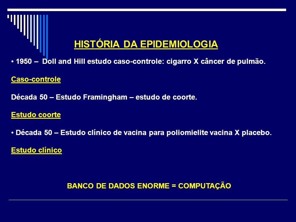 BANCO DE DADOS ENORME = COMPUTAÇÃO