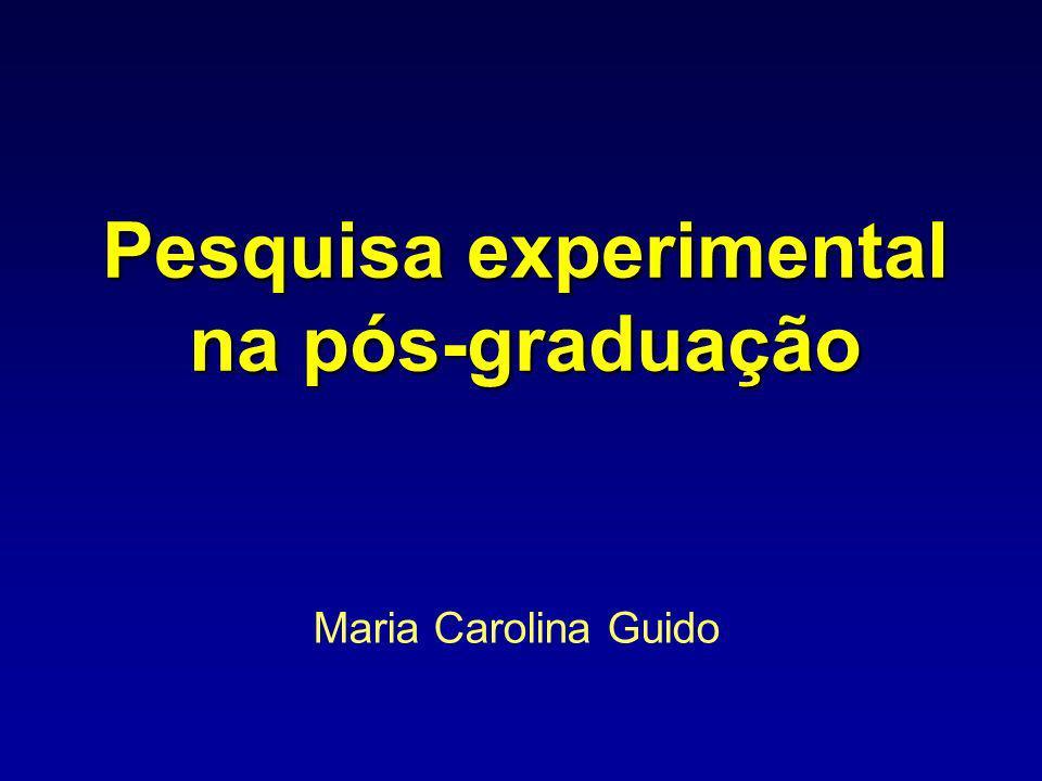 Pesquisa experimental na pós-graduação