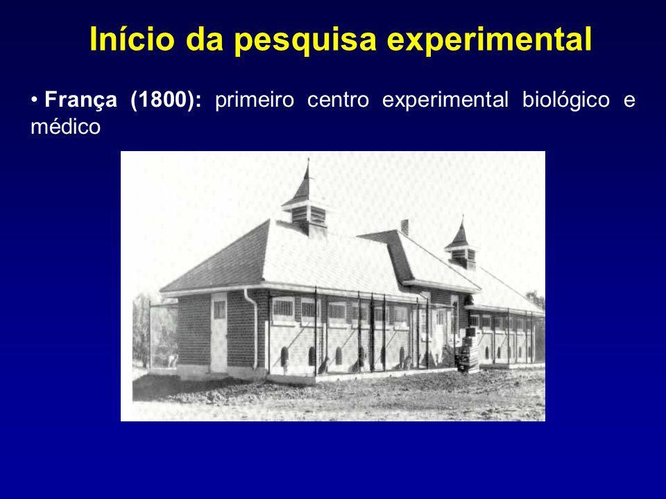Início da pesquisa experimental