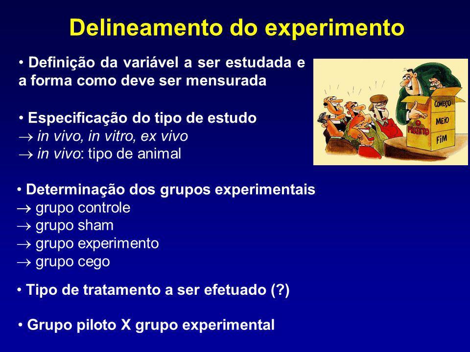 Delineamento do experimento