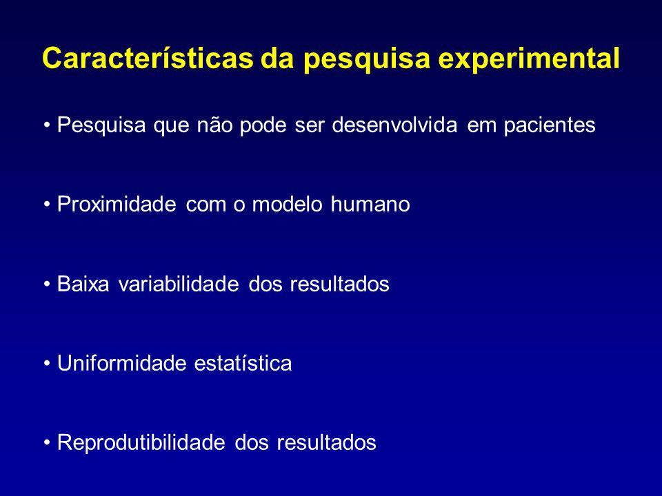 Características da pesquisa experimental