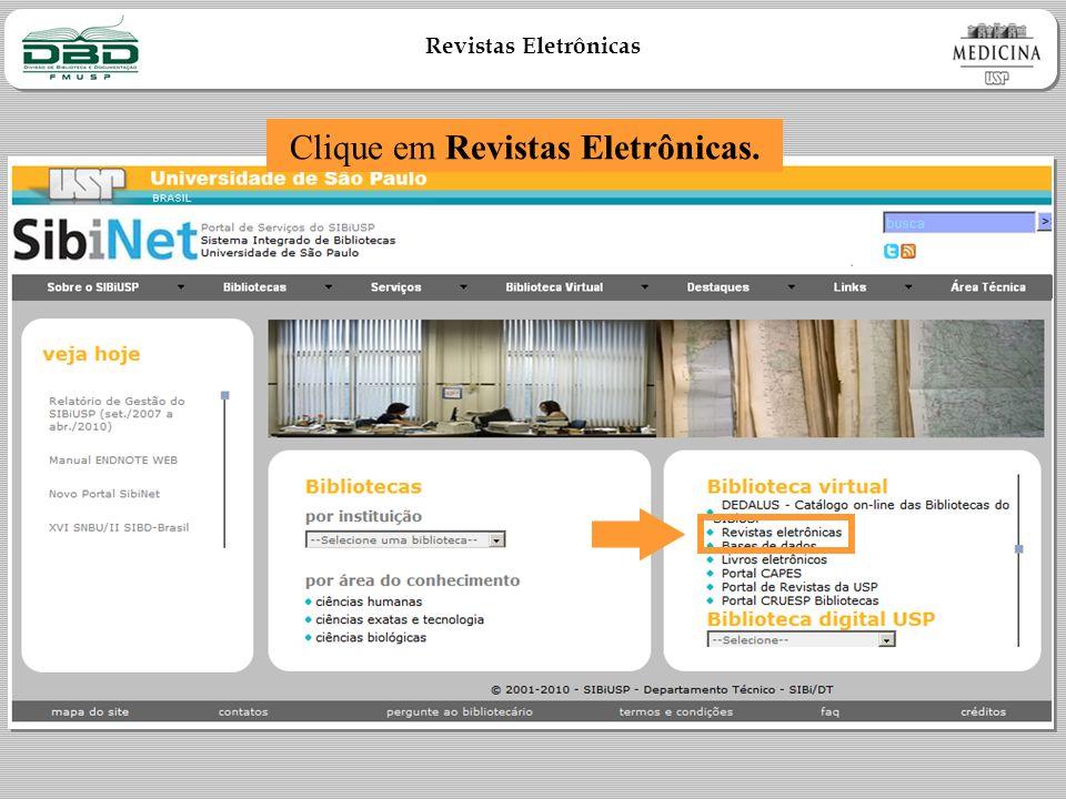Clique em Revistas Eletrônicas.