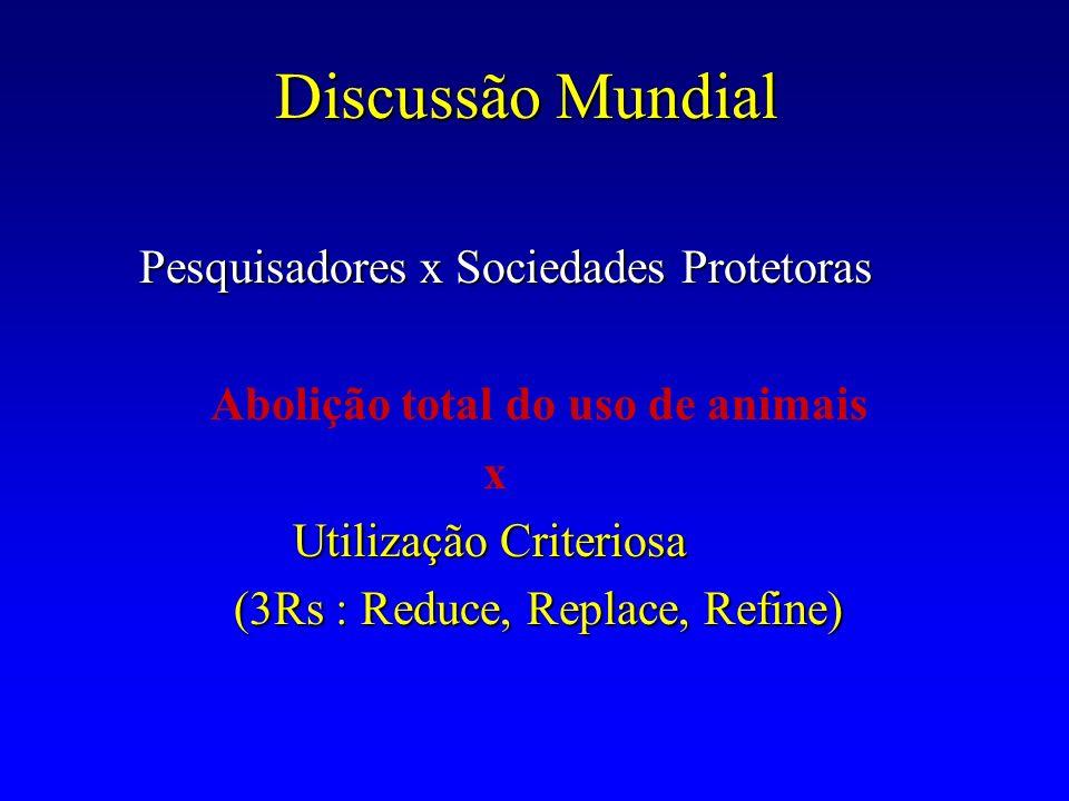 Discussão Mundial Pesquisadores x Sociedades Protetoras