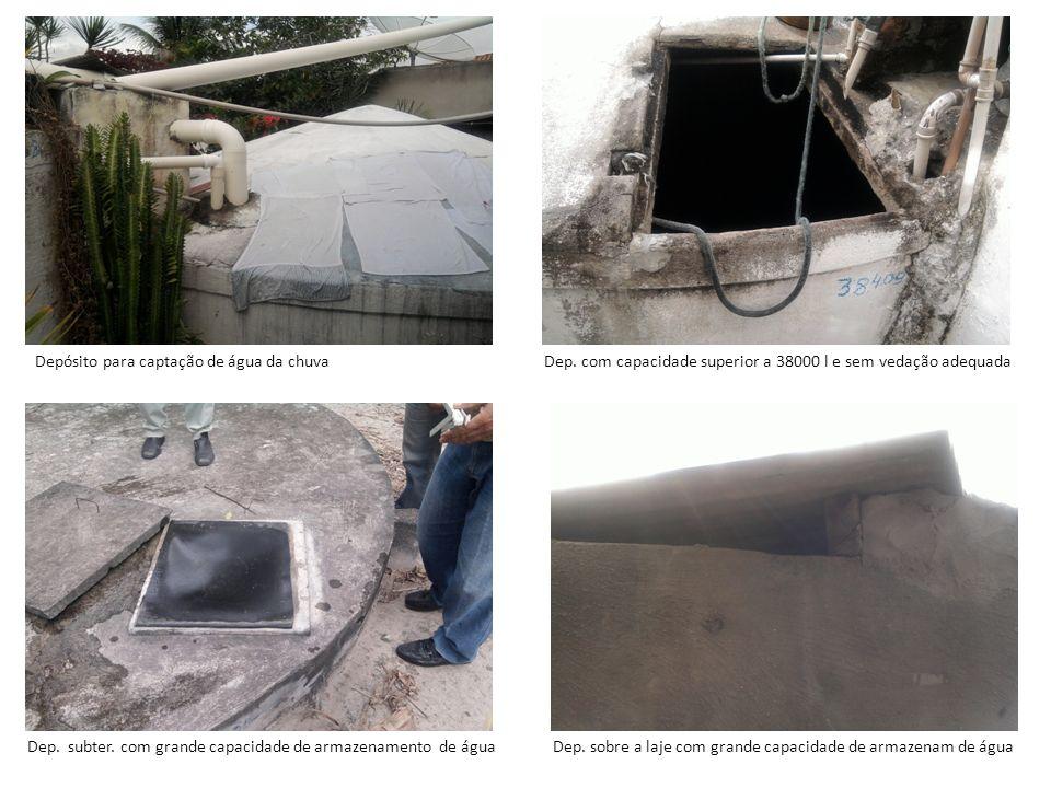Depósito para captação de água da chuva