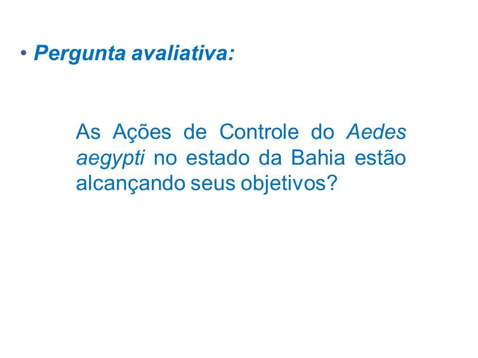 Pergunta avaliativa: As Ações de Controle do Aedes aegypti no estado da Bahia estão alcançando seus objetivos