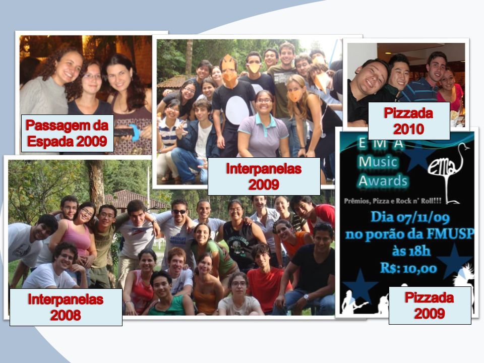 Pizzada 2010 Pizzada 2009 Interpanelas 2009 Interpanelas 2008 Passagem da Espada 2009