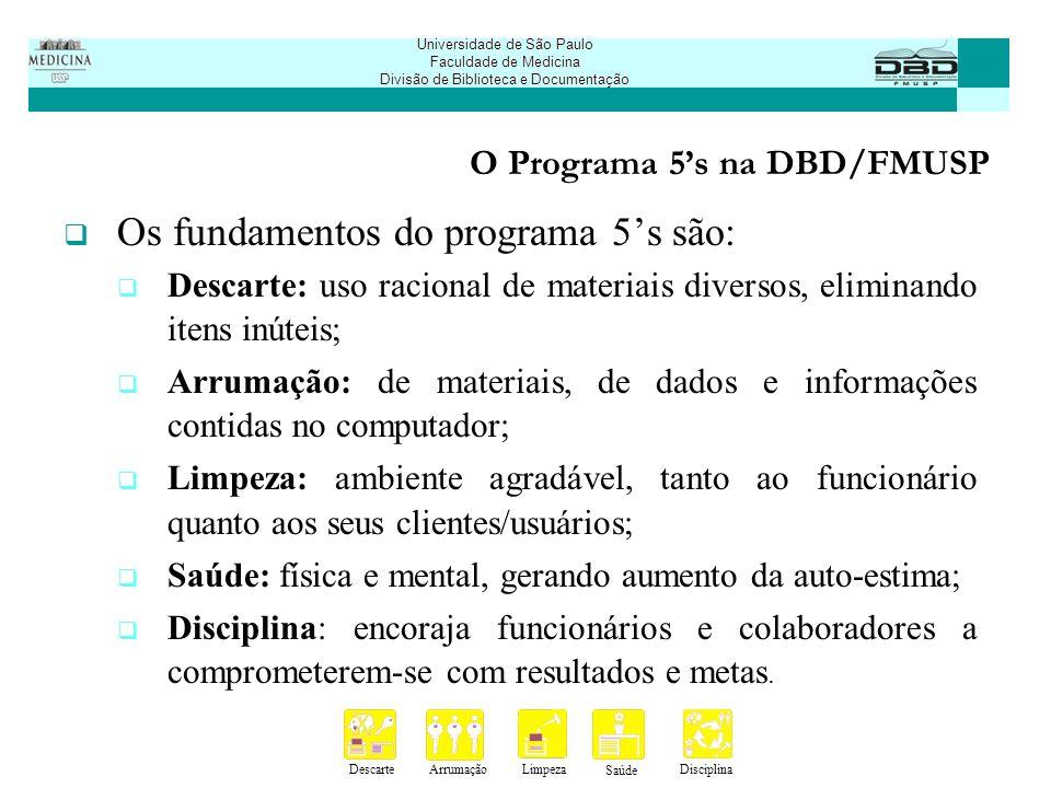 O Programa 5's na DBD/FMUSP
