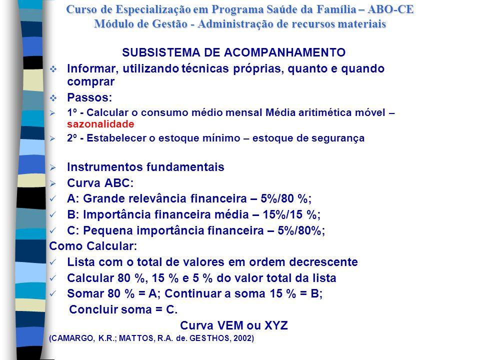 SUBSISTEMA DE ACOMPANHAMENTO