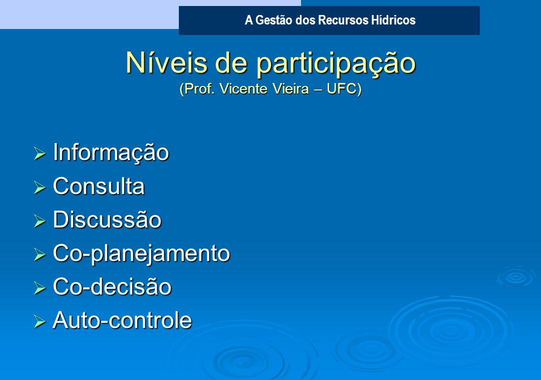 Níveis de participação (Prof. Vicente Vieira – UFC)