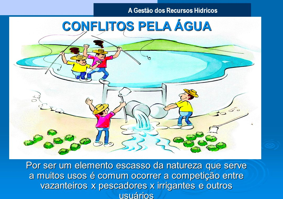 CONFLITOS PELA ÁGUA