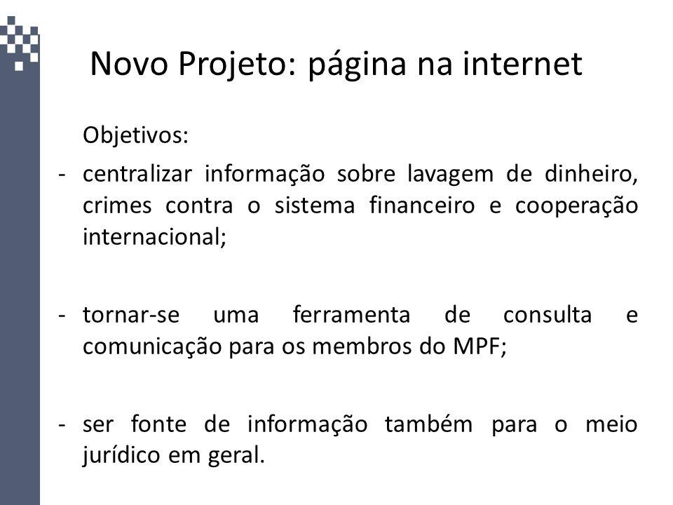 Novo Projeto: página na internet