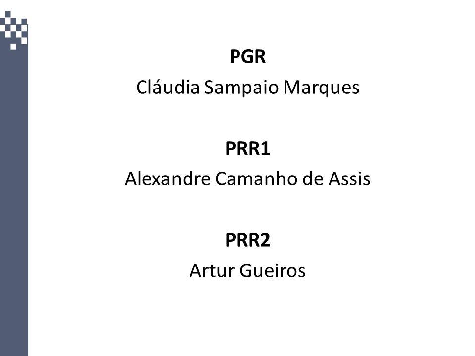 Cláudia Sampaio Marques PRR1 Alexandre Camanho de Assis PRR2