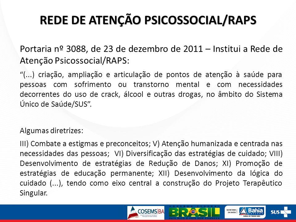 REDE DE ATENÇÃO PSICOSSOCIAL/RAPS
