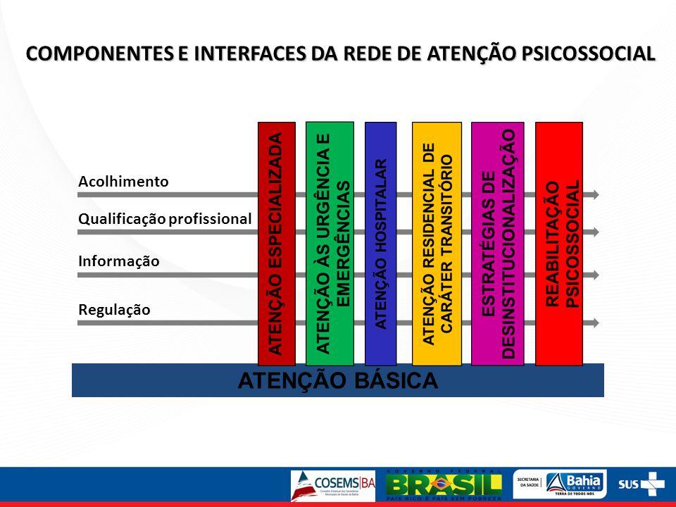 COMPONENTES E INTERFACES DA REDE DE ATENÇÃO PSICOSSOCIAL