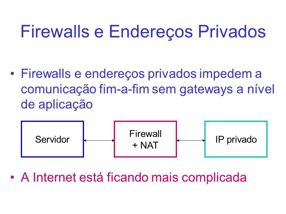 Firewalls e Endereços Privados