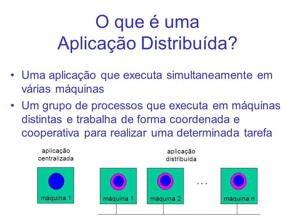 O que é uma Aplicação Distribuída