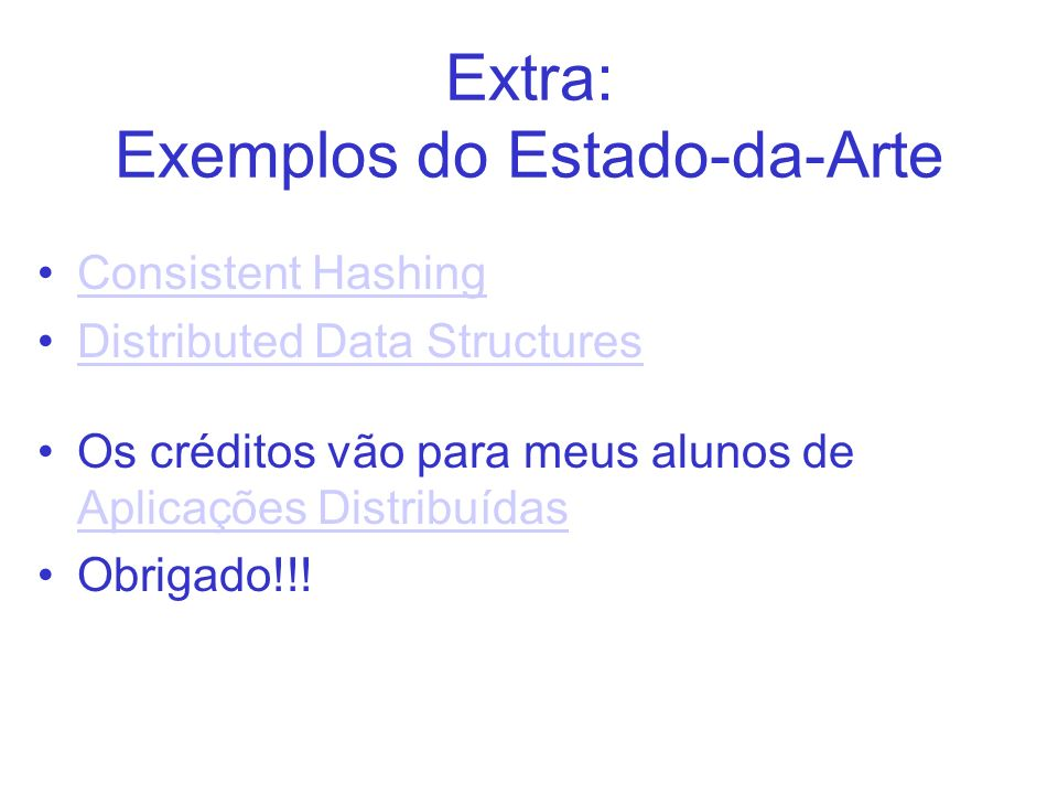 Extra: Exemplos do Estado-da-Arte