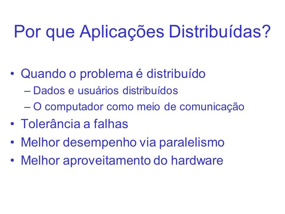 Por que Aplicações Distribuídas