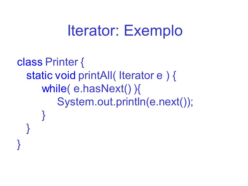 Iterator: Exemplo