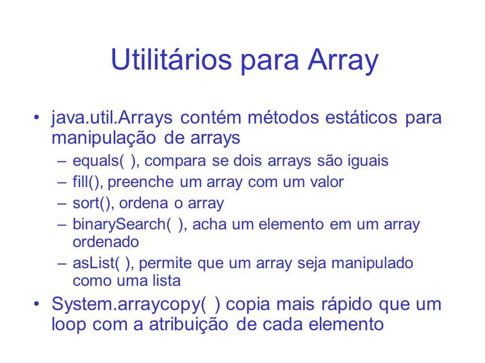 Utilitários para Array