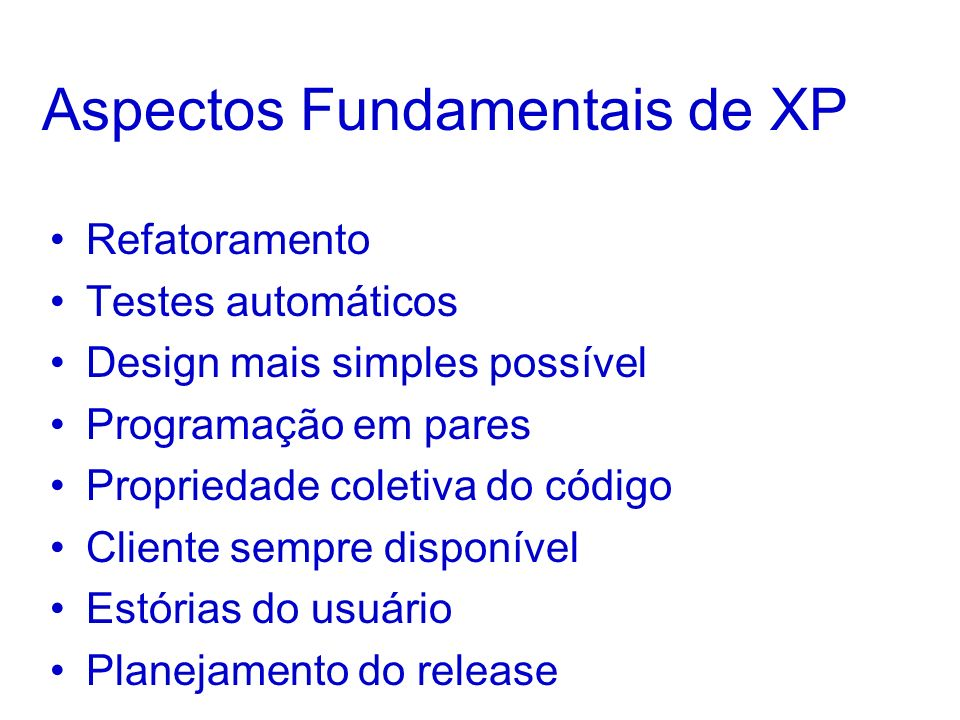 Aspectos Fundamentais de XP