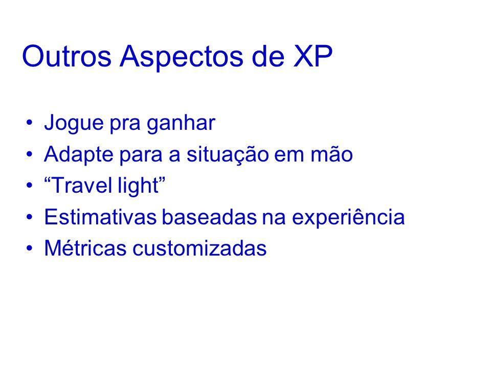 Outros Aspectos de XP Jogue pra ganhar Adapte para a situação em mão