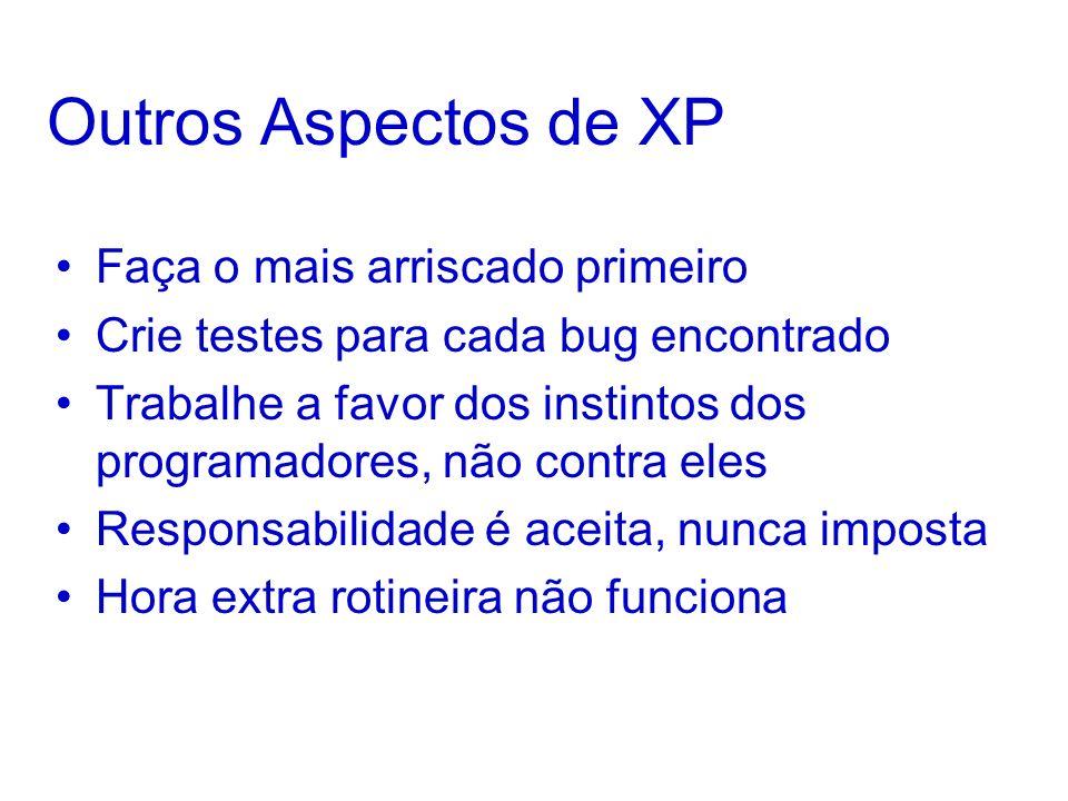 Outros Aspectos de XP Faça o mais arriscado primeiro