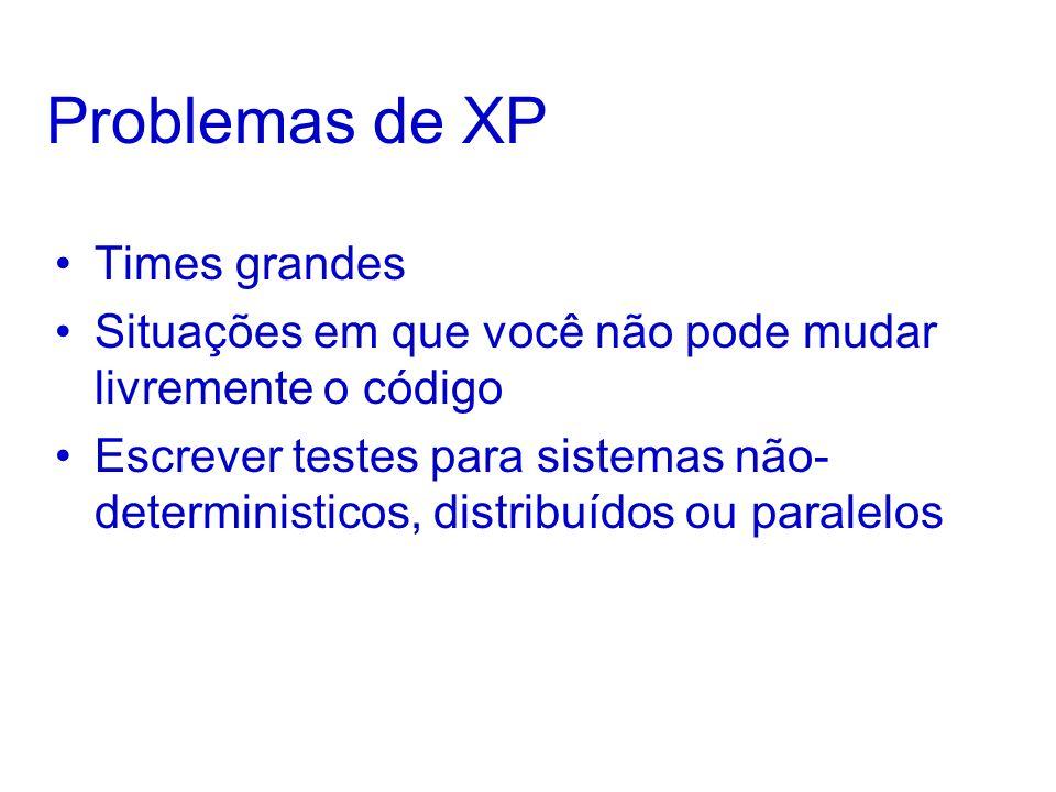 Problemas de XP Times grandes