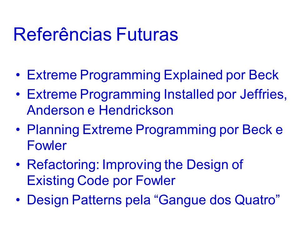 Referências Futuras Extreme Programming Explained por Beck
