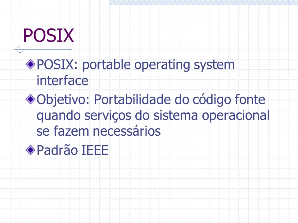 POSIX POSIX: portable operating system interface