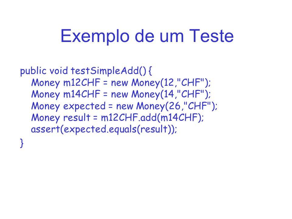 Exemplo de um Teste