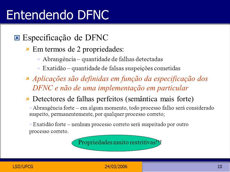 Entendendo DFNC Especificação de DFNC Em termos de 2 propriedades: