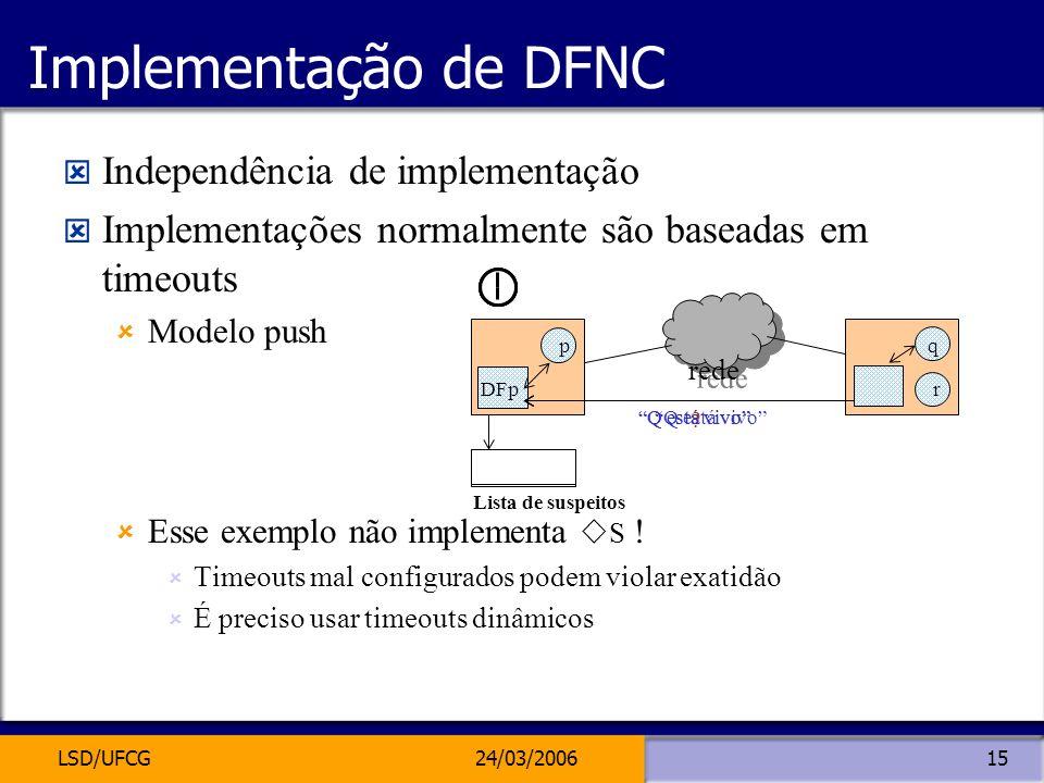 Implementação de DFNC Independência de implementação